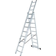Лестница алюминиевая трёхсекционная NV 123 3х8