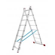 Лестница двухсекционная алюминиевая 2x14