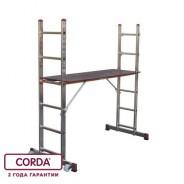 Малые лестничные подмости Krause Corda 2х6 3/3,75м с одной парой роликов